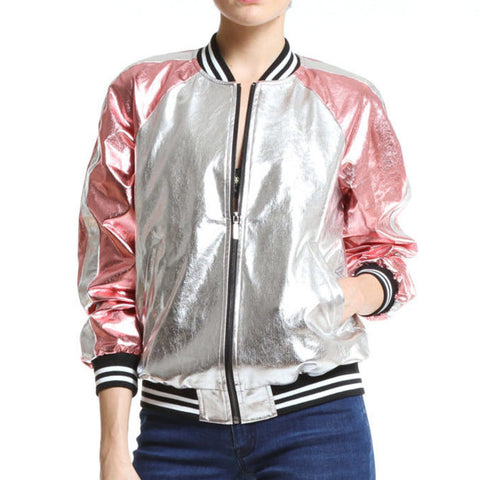 Artistix - Rose Baseball Jacket - Pink