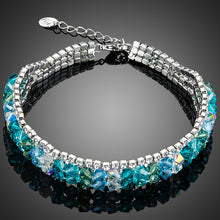 Load image into Gallery viewer, Gorgeous Very Sparkly Light Blue & Green Crystals Bracelet | Ocean Water Colors