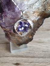 Load image into Gallery viewer, Elegant necklace with a large purple stone and many other shiny transparent crystals | Pendant Jewelry Crystal Chain Women Gift New Fashion