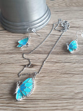 Load image into Gallery viewer, Blue & turquoise butterfly drop earrings and pendant necklace set | Jewelry Set Women Crystal Gift Fashion Rhinestone Free Shipping Girls