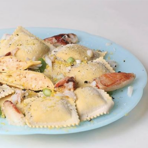 Lemon Pepper Crab Ravioli