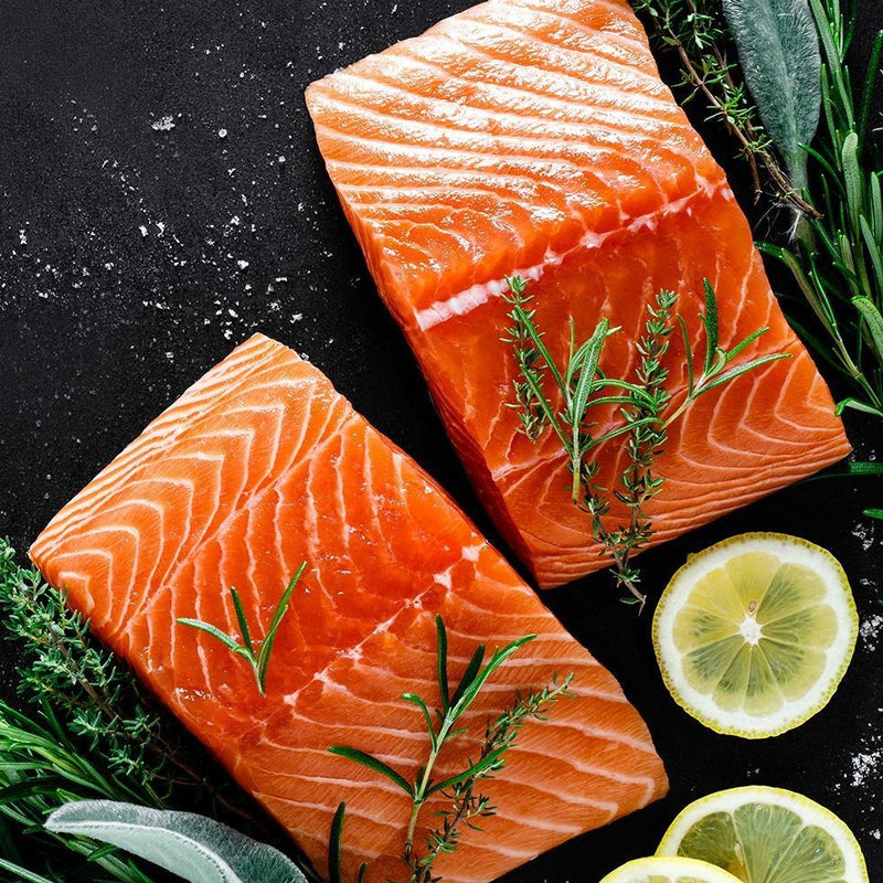 Salmon Norwegian Portions Skinless Frozen
