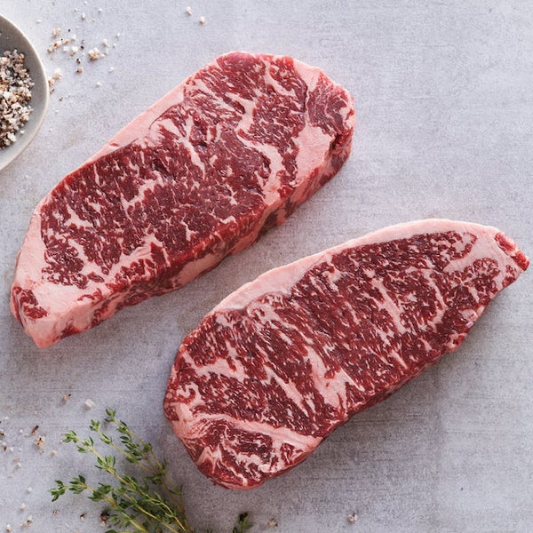 10oz Wagyu NY Strip Steaks, 12 pc.