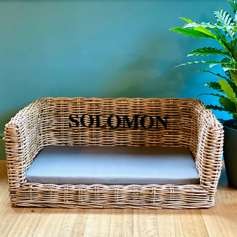 Personalised Luxury Dog Basket