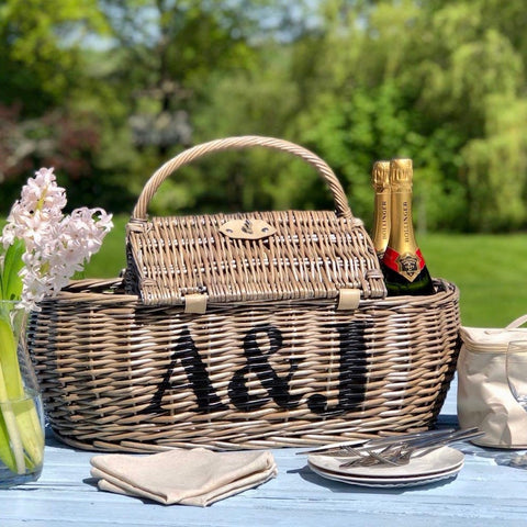 Personalised Four Person Boat Picnic Basket