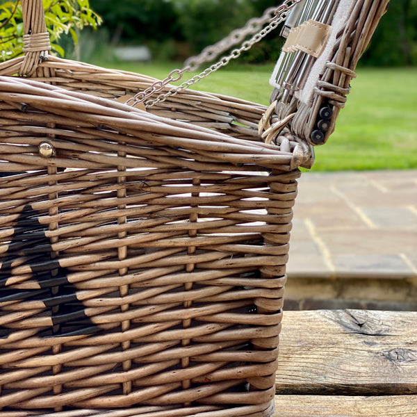 Personalised Double Lidded Four Person Picnic Basket