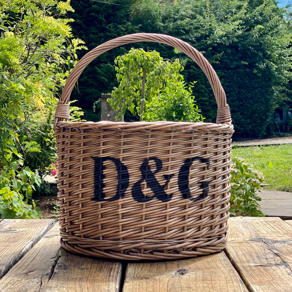 Personalised Grey Round Cooler Basket