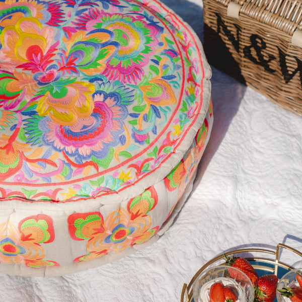 Carnival Multicoloured Pouf
