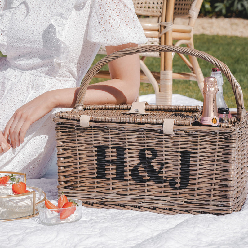 Personalised Four Person Picnic Basket