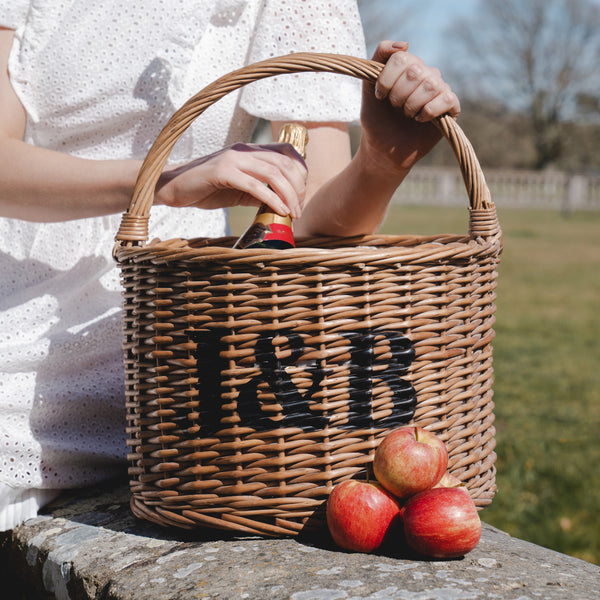 Personalised Red Tartan Cooler Basket