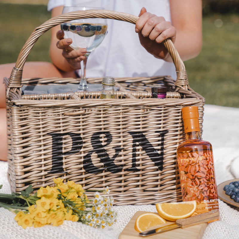 Personalised Gin Basket With Glasses & Accessories