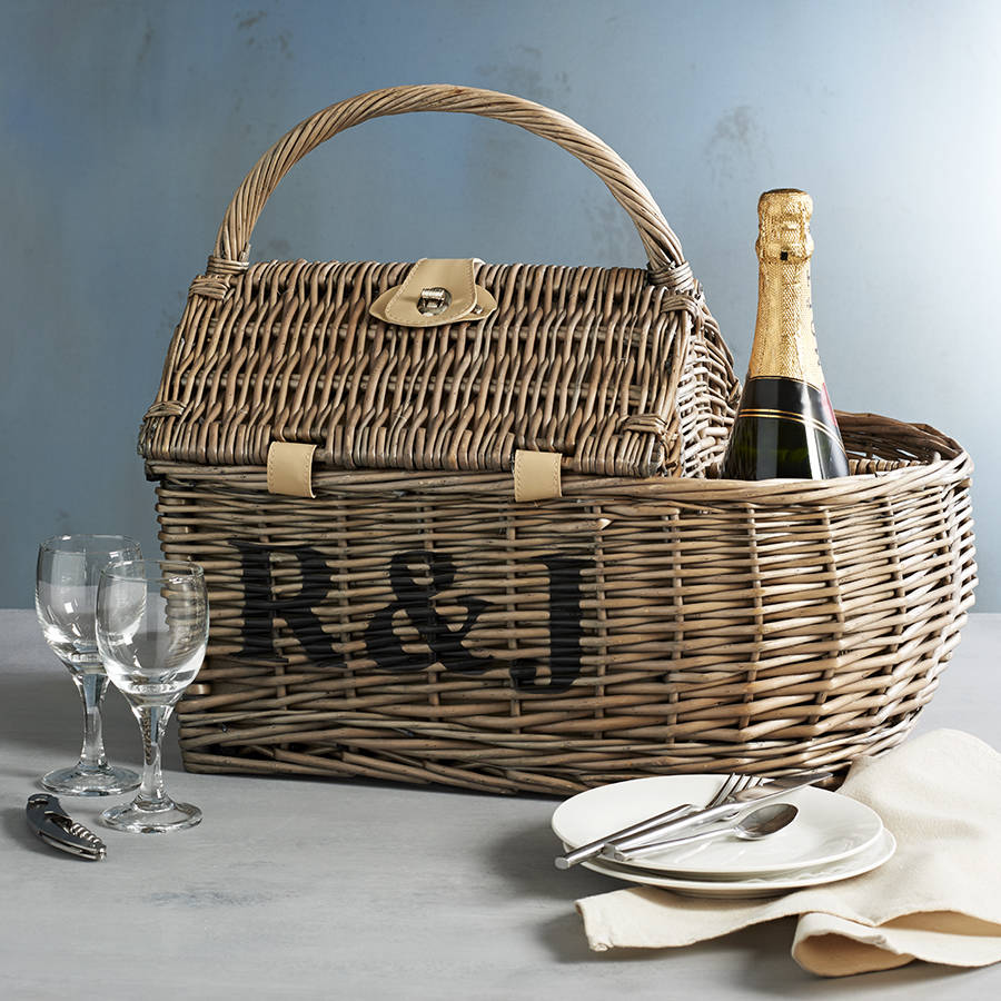 Personalised Two Person Boat Picnic Basket