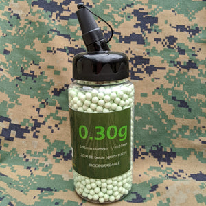 0.30g BIO Green Tracer BBs (2000 bottle)