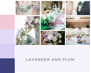 Lavender and Plum Wedding Flowers