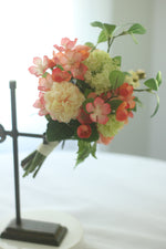 Load image into Gallery viewer, Coral Bridesmaid Bouquet