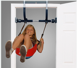 Indoor Playground with Indoor Swing, Plastic Rings, and Climbing Ladder