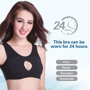 Women Anti-Sagging Cotton Sports Bra, 3 packs