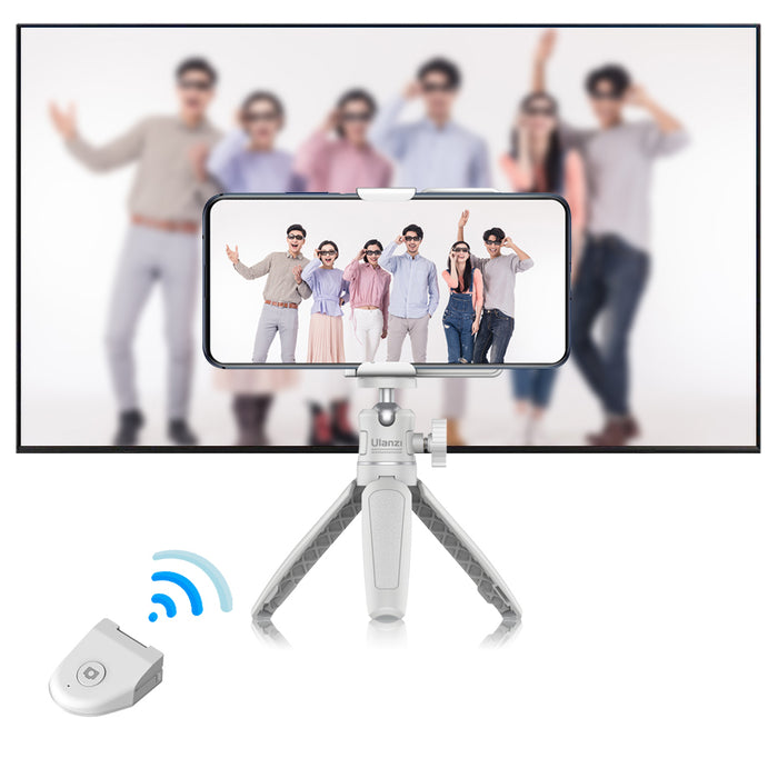 Vittim™ Bluetooth Selfie Shutter Booster for Andriod & IOS, Wireless Smartphone Holder Stand Stabilizer Anti-Shake