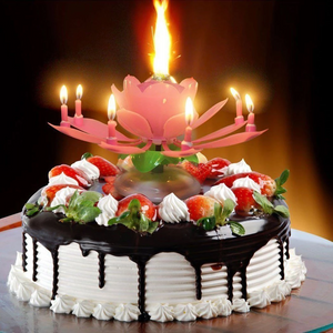 Magic Flower Birthday Candle