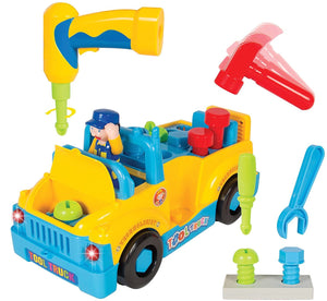 Tool Truck Toy With Electric Drill and Power Tools, Lights and Music