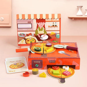 4 Style Cooking Educational Spelling word food box Jigsaw puzzle toy