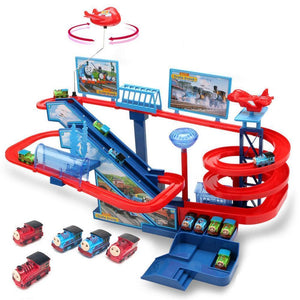 Electric Trains Set With Music And Lighting Including 5 Cars Trackmaster Climbing Stairs