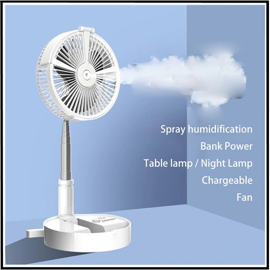 USB Eletric Fan,Humidifying Hydration Water Spray Fan,Desk Lamp Fan,Floor Standing Fan