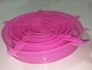 6 reusable food silicone packaging lids