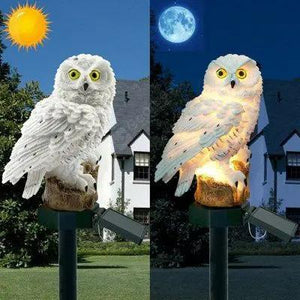 Solar Powered Owl LED Lawn Lamp Waterproof Floor Light