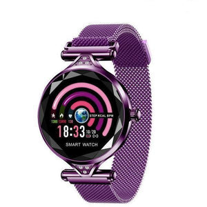 Fashion Heart Rate Blood Pressure Fitness Pedometer Physiological Cycle Waterproof Smartwatch- - Free Shipping CoolThingsPro Purple