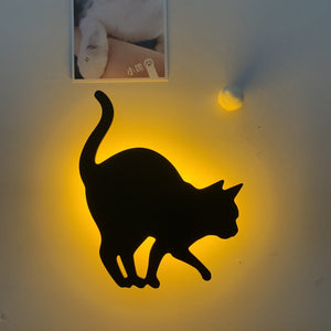 3D pattern sound control projection lamp(Cat)