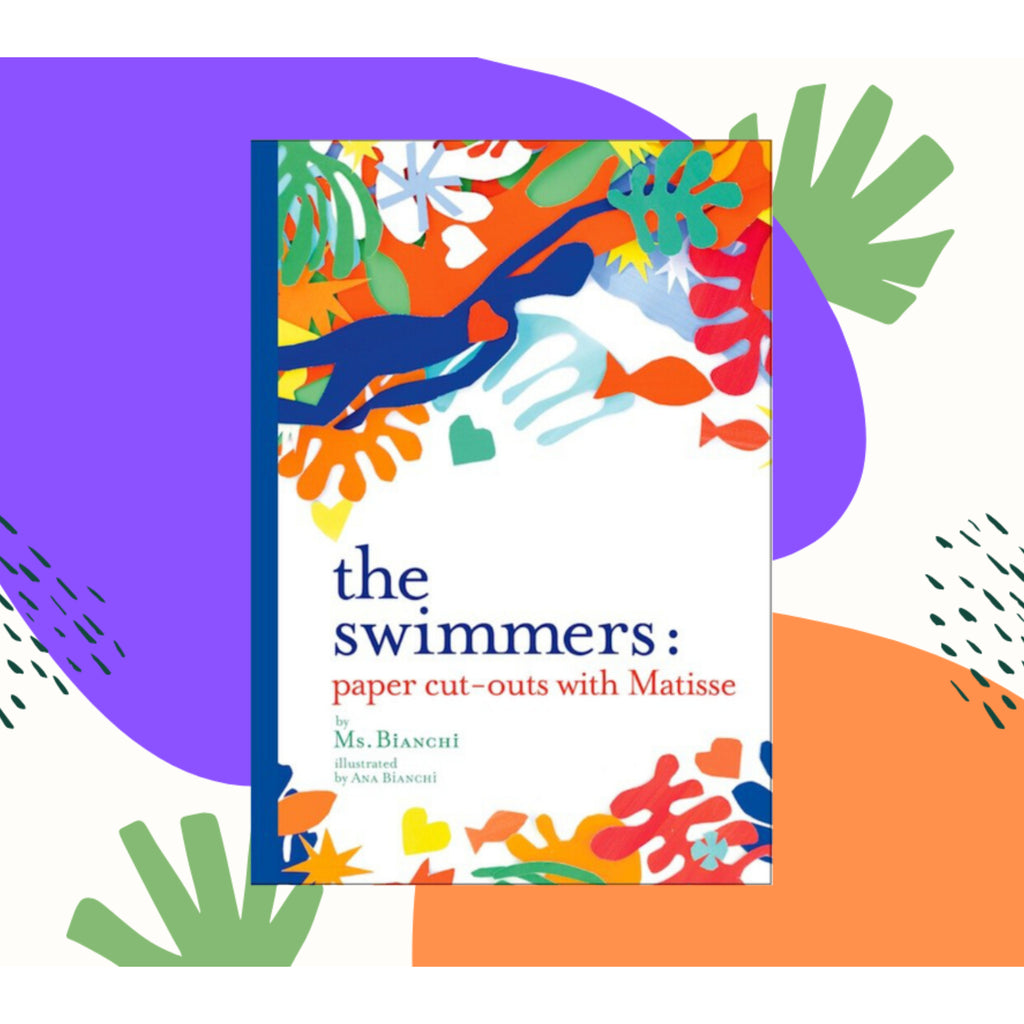 The Swimmers: Paper cut-outs with Matisse book