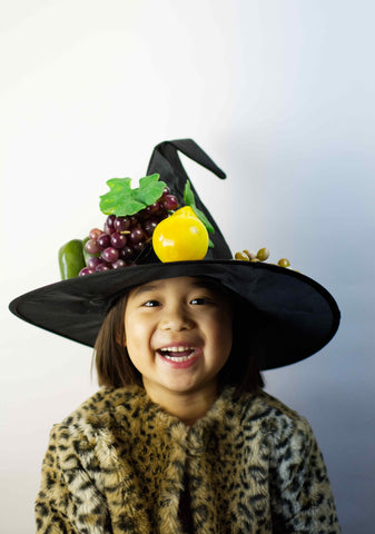 crazy fruit hat photoshoot