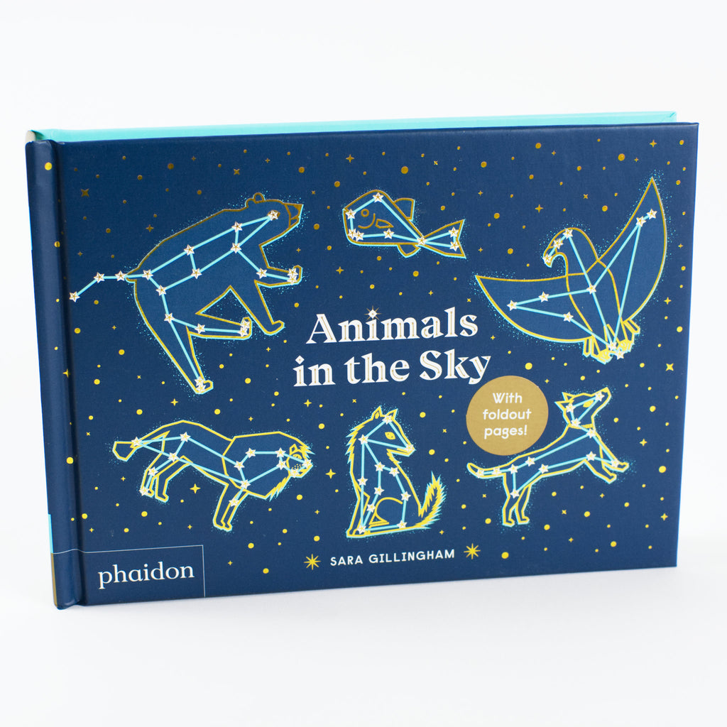 Animals in the Sky by Sara Gillingham. Board book cover