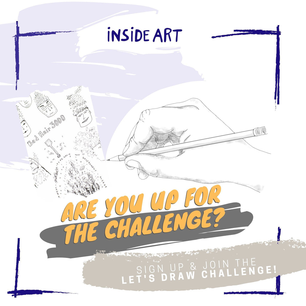 Inside Art Space Drawing Challenge poster