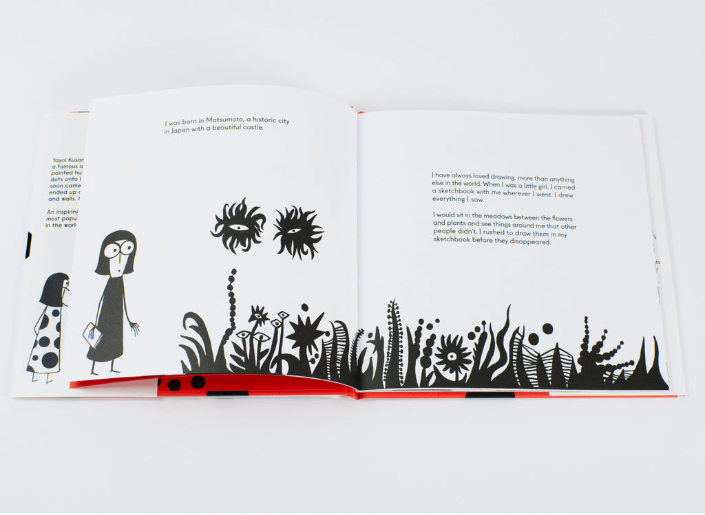 Yayoi Kusama Covered Everything In Dots and Wasn't Sorry by Fausto Gilberti inside book