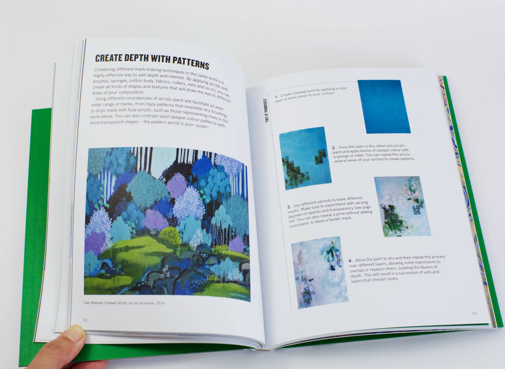 Acrylic: Do More Art by Rita Isaac inside book