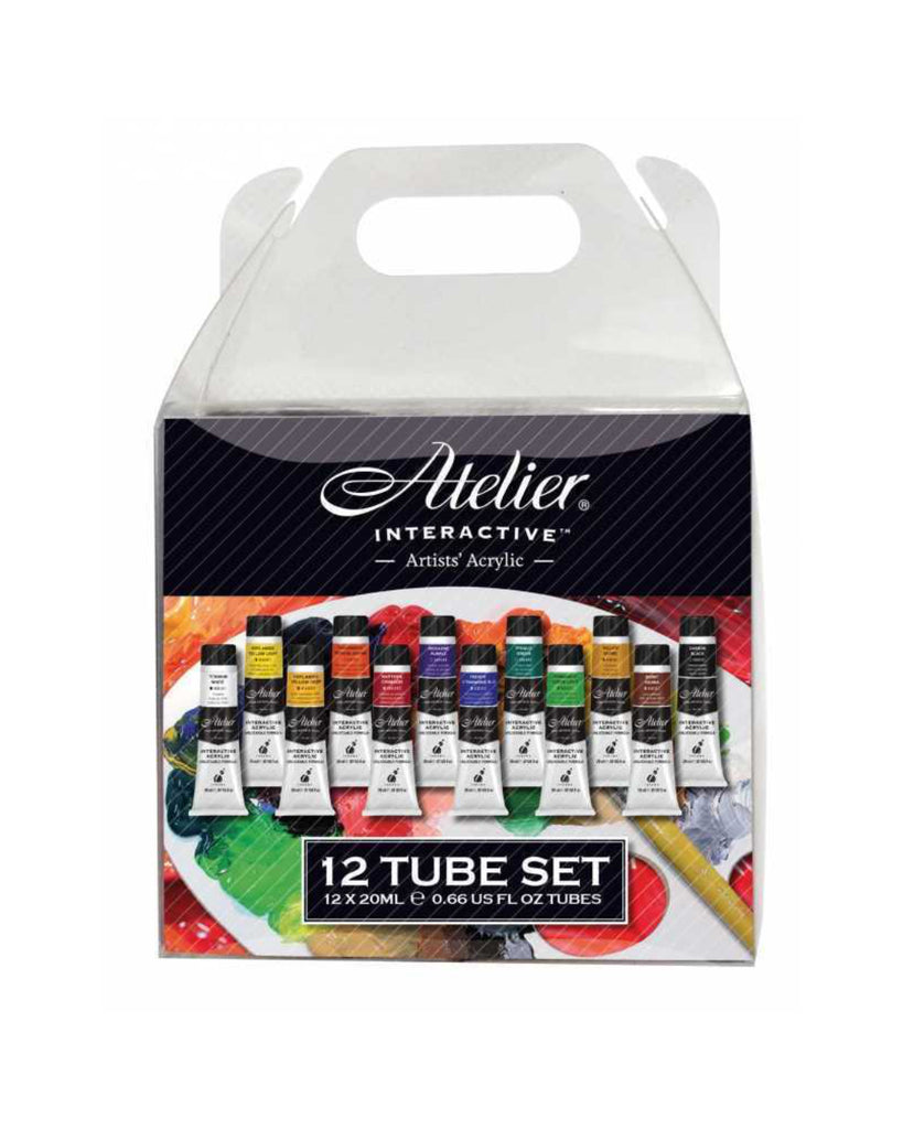 Atelier Interactive Acrylic Paint Set 12 x 20 ml, Art Materials, Inside Art Space