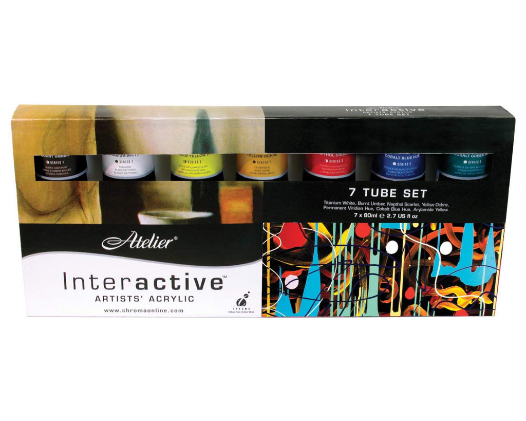 Atelier Interactive Acrylic Paint Set 7 x 80 ml, Art Materials, Inside Art Space