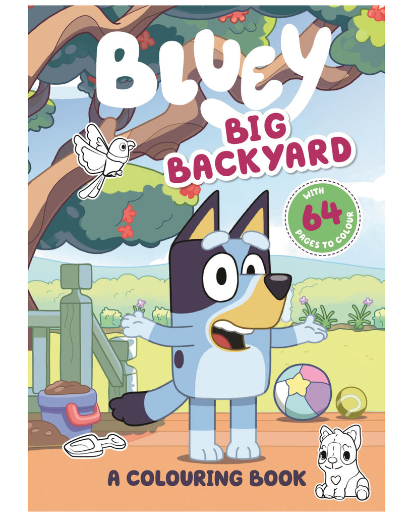 Bluey: Big Backyard (A Colouring Book), Everyone loves Bluey!  Colour Bluey's backyard, the creek, the playground and more in this fun-filled colouring book