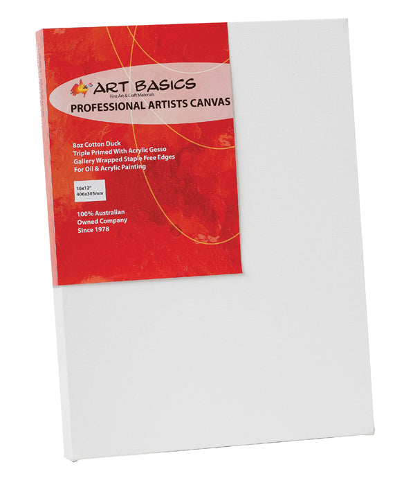 Art Basics Canvas Slim 10x8 inch, Art Materials, Inside Art Space