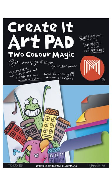 Micador Create It Art Pad Two Colour Magic