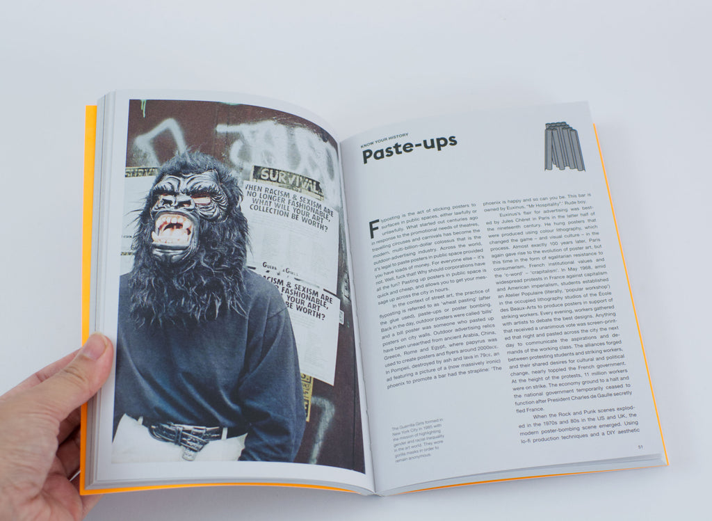 The Street Art Manual by Barney Francis Book inside paste ups