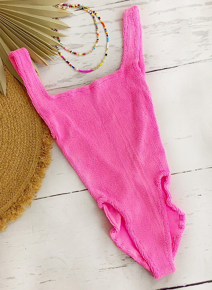 Classic Square Neck Swim pink
