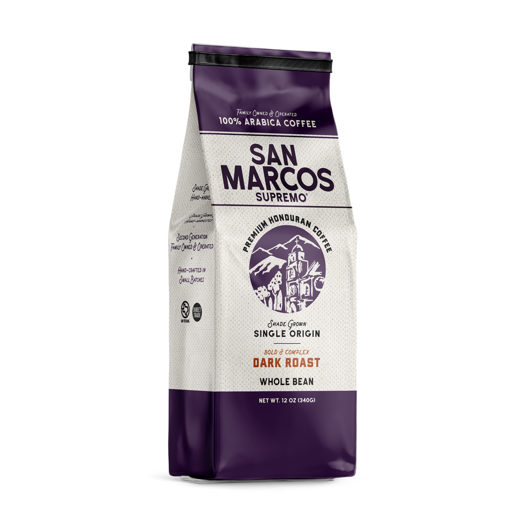 Our strictly High Grown Cafe San Marcos Supremo® (SHG) offers Bright dominate hints of bittersweet notes & smoky overtones.  With a full body that reveals the best flavor and instantly envelops your senses of both taste and smell.