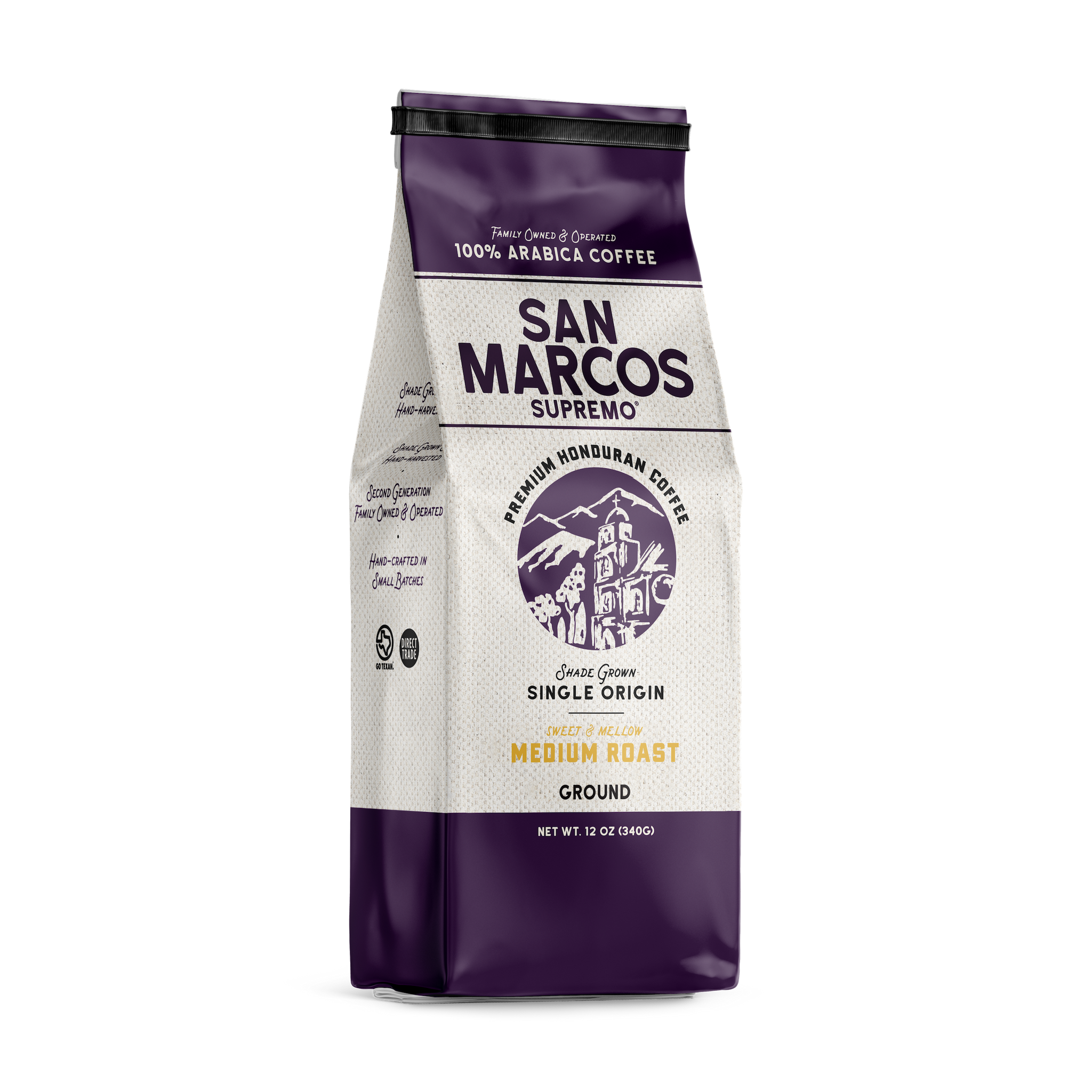 Our strictly High Grown Cafe San Marcos Supremo® (SHG), offers Bright dominate hints of bittersweet notes & smoky overtones. With a full body that reveals the best flavor and instantly envelops your senses of both taste and smell. Most Popular for Espresso Blends, Strong & Bold