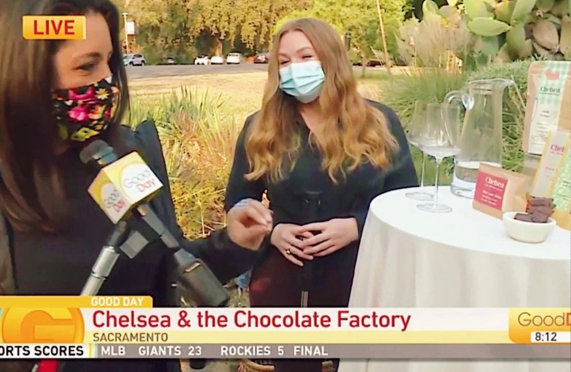 Julissa Ortiz Good Day Sacramento with Chelsea Russo of Chelsea and the Chocolate Factory trying out a Cocoa Protein Smoothie Blend