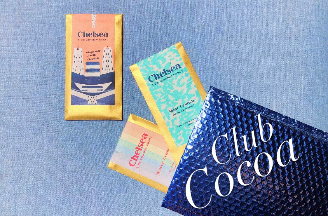 Club Cocoa Chocolate Subscription by woman owned small business. Special Delivery! We're making a social club and chocolate shipment for our friends. While staying closer to home, we'll share some of the things we love to help make life a little extra spe