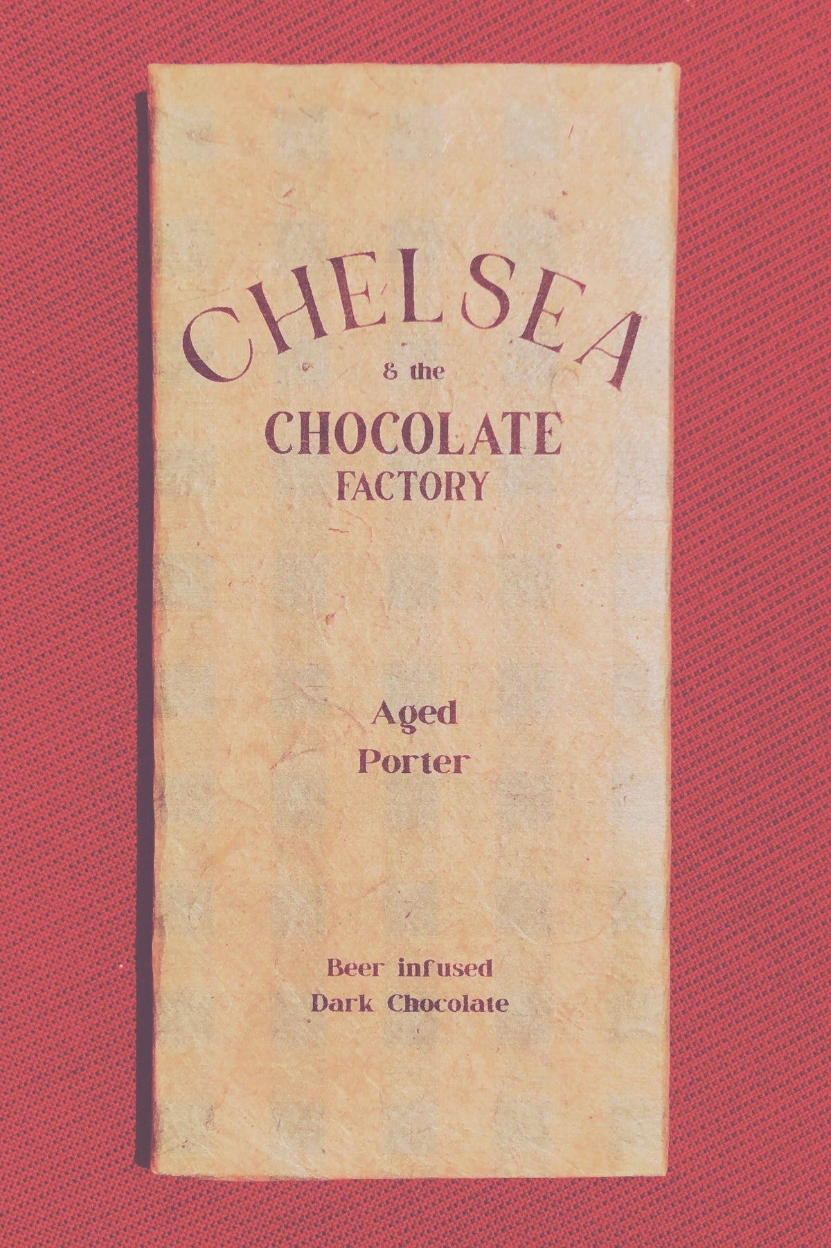 Chelsea and the Chocolate Factory Limited Release Aged Porter Beer infused dark chocolate