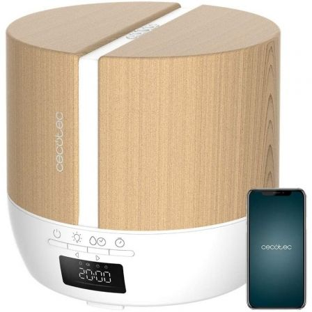 Humidificador con Altavoz Cecotec Pure Aroma 500 Connected White Woody/ Capacidad 500ml - imagen 1